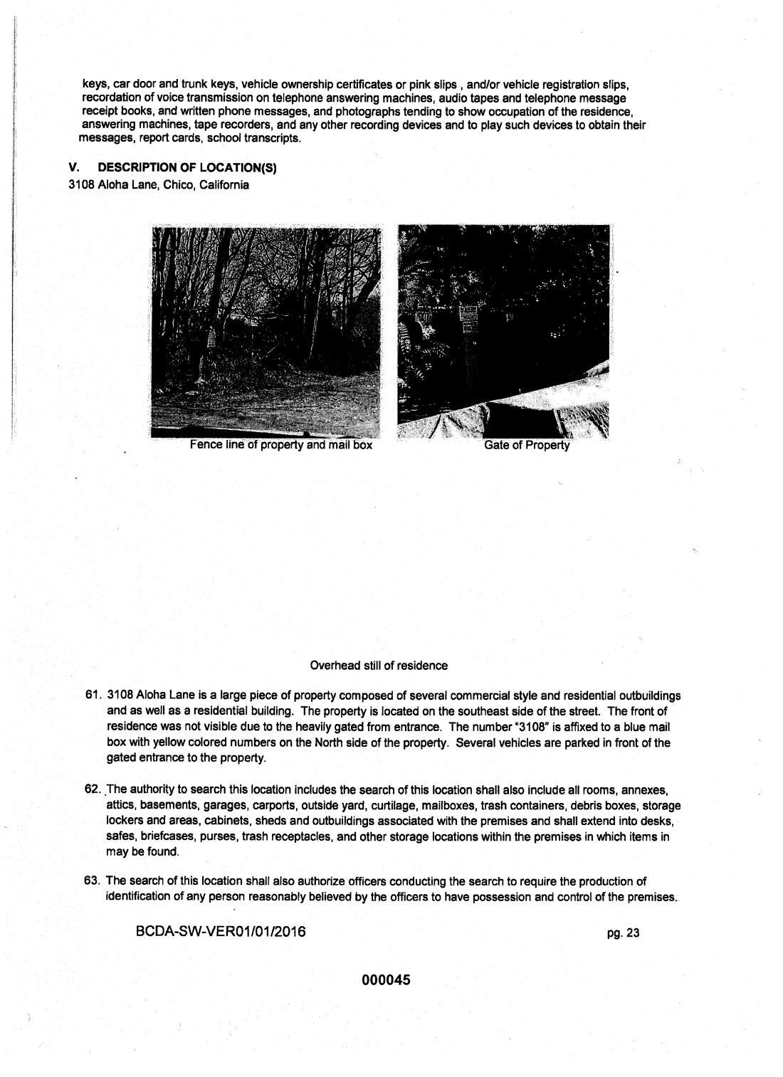 Statement of probable cause page 19